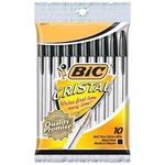 BIC Cristal Ball Pen 10 Pack (Black Ink)