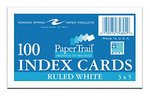 PaperTrail 3x5 Ruled White Index Cards
